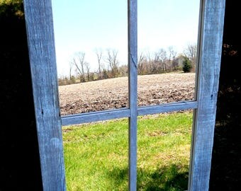 Barnwood Framed 4 Pane Mirror