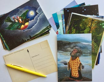 Postcard Collection, Set of 30 Designs