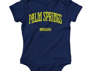 Baby One Piece - Palm Springs California - Infant Romper - NB 6m 12m 18m 24m - Baby Shower Gift, Sonoran Desert, Coachella, Californian