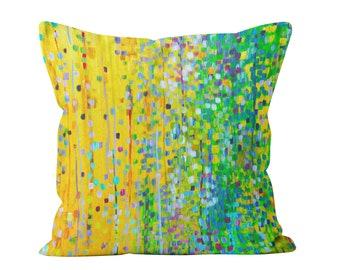 Yellow & Green Cushion - Yellow Green Decorative Sofa Cushion - Yellow and Green Decorative Throw Scatter Pillow Square Cushion Yellow Green