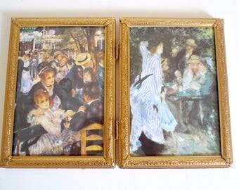 Vintage 5x7 Bi-Fold Picture Frame 5 x 7 - Folding Double Gold Frame