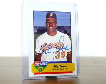 Billy Owens Signed Autographed Card Baltimore Orioles Oakland A's Assistant General Manager