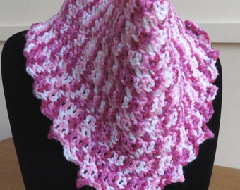 Cowl scarf in variegated pinks