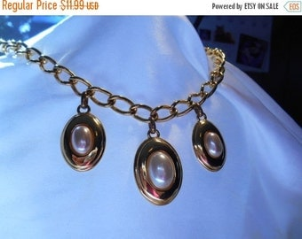 Holiday Sale Napier Gold and Faux Pearl Statement Necklace