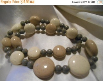 Holiday Sale Avon Sand Pebbles Bead Necklace in Sea Sand
