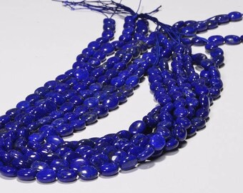 Lapis Lazuli 10x8x5.3mm 8 Beads Royal Blue Natural Lapis Lazuli Jewelry Making Supplies