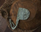 Linen Long Knit Ties Newborn Bonnet Photography Prop
