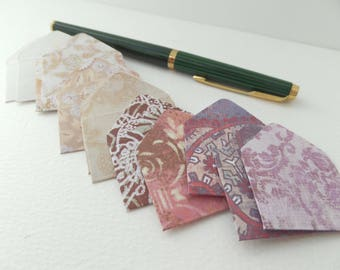 Six Random Mix, Teeny Weeny mini envelopes, mixed patterns envelopes, Random, Mystery Selection