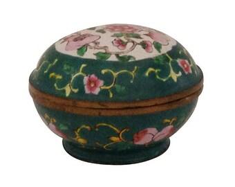 Small Vintage Round Cloisonne Box