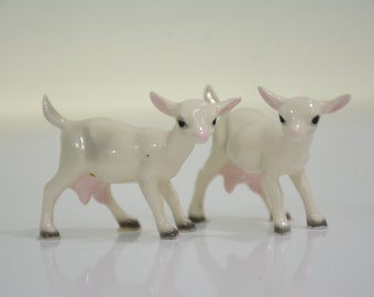 Hagen Renaker Pair of Miniature Goat Figurines