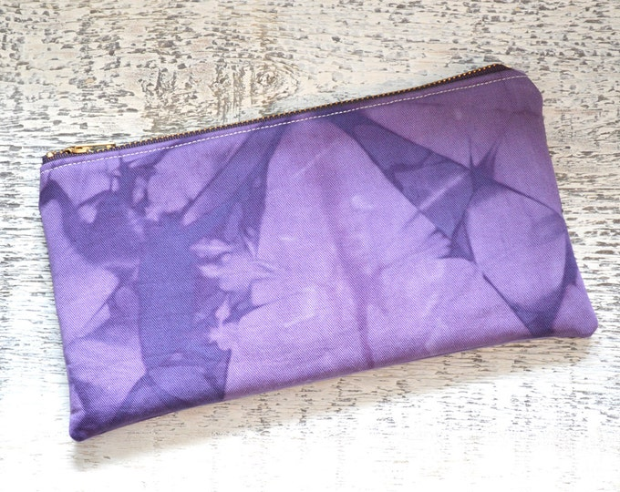 Purple Shibori Pouch - Amethyst