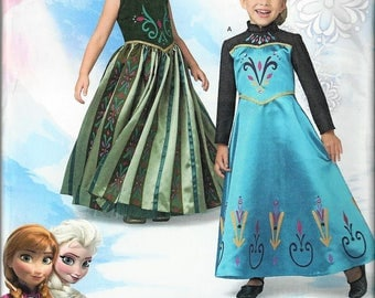 New SimplicityFrozen Coronation Day Costumes Pattern #1222 for ChildrenSz 3-8 Uncut Factory Folded