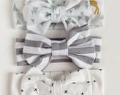 Newborn turban bow baby girl headband newborn hair bow newborn headband infant headbands baby headwrap headband turban head