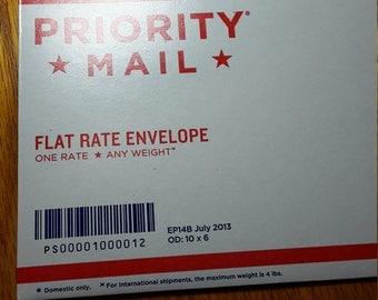 Flat rate envelope upgrade