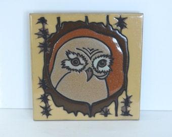 Owl Pottery Trivet