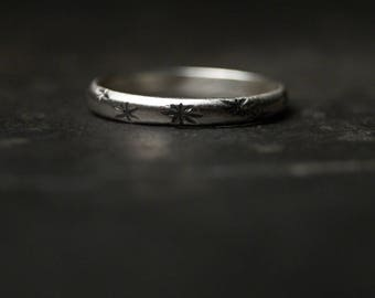 Starry Skies Ring - Little Sterling Silver Band