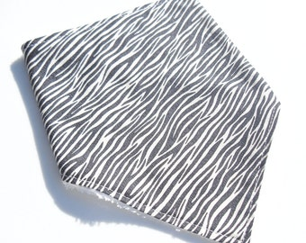 Baby Bandana Bib - Zebra - Adjustable Baby bib - Baby Shower Gift Idea