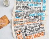 Cockney Rhyming Slang Tea Towel