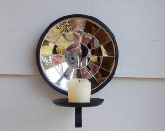 Wrought Iron Reflector Candle Holders  Hang on your Wall