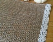 Burlap and Lace Farmhouse Fall Placemats Set of 4