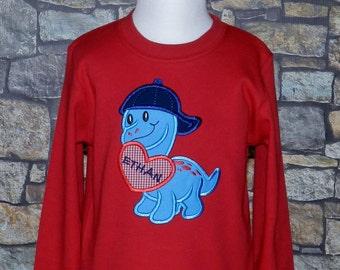 Valentine Dinosaur Shirt / Personalized / Valentine's Day