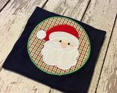 Boys santa shirt, boys christmas shirt, baby santa bodysuit, Santa Claus outfit, santa outfit, boys santa outfit