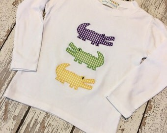 Boys Mardi Gras shirt, mardi gras gators, mardi shirt boys, mardi gras alligators, boys parade shirt, mardi gras party shirt, mardi gras