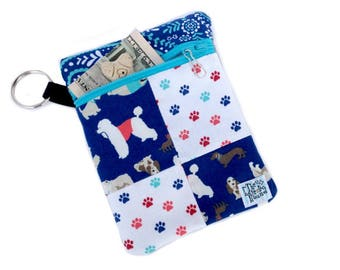 Paw Prints Dog Leash Accessory Pouch - Dog Treat Bag - Dog Poop Bag Holder - Leash Bag