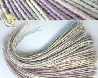 RESERVED Dreamy Pastels Double Ended Synthetic Dreads Full Set