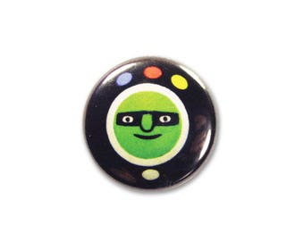 1 Inch Pinback Button Original - Orbazoom
