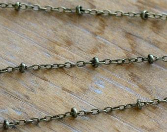 Mini Disc Necklace or Bracelet Chain Antique Bronze Chain 2mm Chain Jewelry Chain Necklace Chain Bracelet Jewelry Supplies ()