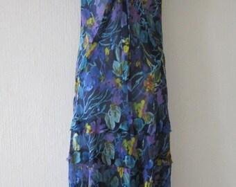 Floral Sheer Long Summer Dress