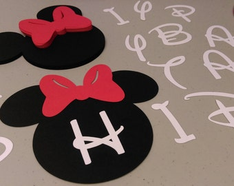 DIY Minnie Mouse Birthday Banner in Red, Birthday Decorations, DIY Banner, Mickey Mouse Clubhouse