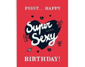 "Birthday card ""Supersexy"""