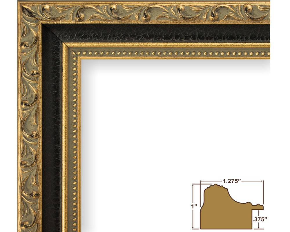 Craig Frames 22x28 Inch Antique Gold And Black Picture Frame
