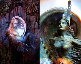 Goddess Journal - Spirit Woman Talking Stick and Bird Woman - Diary, Notebook by Shaping Spirit