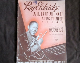 Roy Eldrigde Vintage Music Book Album of Swing Trumpet Solos Vintage Sheet Music