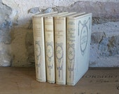 Decorative French books - cream book stack from the 1930s