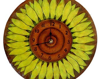 Sunflower Wall Clock-large size