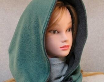 Fleece hooded scarf/ fleece scoodie/ fleece snood/ hooded scoodie/ reversible hooded scarf/ fleece scarf/ hooded scarf/ scoodie/ scarf