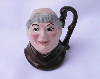 Vintage miniature Toby Character Mug. Fryer Monk Toby mug. Toby cup.