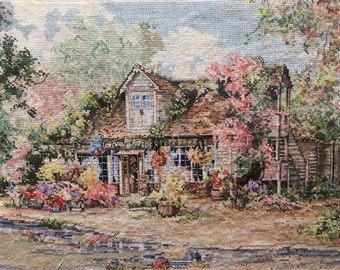 Finished / Completed Cross Stitch - Janlynn Counted Cross : Gomshall Flower Shop crossstitch counted cross stitch
