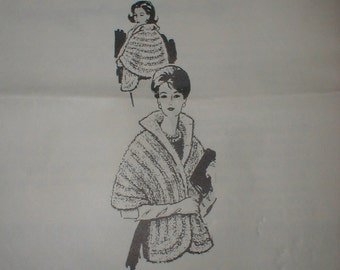 Alice Brooks Designs *Knitted Stole/Stolle* Pattern 981 *Vintage Glam*