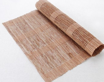 Natural Beige Linen Fabric,woven Ramie Fabric, plain Fabric, Linen fabric, Home Decor Fabric 1/2 yard (QT1120)