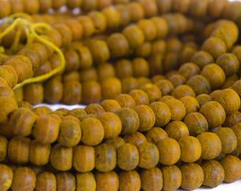 Turmeric Haldi Beads 5 Strands 540 Yellow Curcumin Natural 7mm Turmeric Bulb Beads HB0007