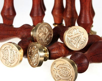 Curlicue Alphabet Wax Seal Stamp Letters Wax Seal Stamp