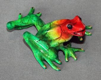 "Bronze Frog Sculpture Amphibian Metal Art Figurine Statue  / Limited Edition / Signed & Numbered ""Sammy Frog"""