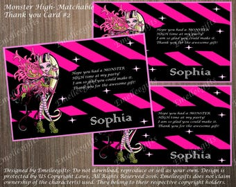 Monster High Matchable Thank You Card #2 ~INSTANT DOWNLOAD~