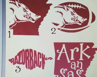 Arkansas Razorback Decal