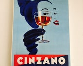 Reserved for B Wall Decor Vintage Cinzano Wall Tile